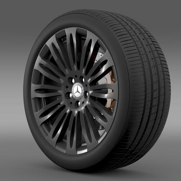 3DOcean Mercedes Benz S 600 wheel 11281203