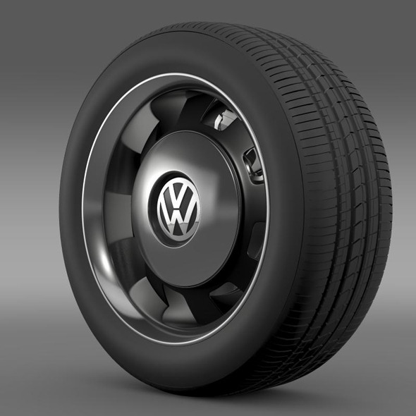 VW Beetle Classic wheel - 3DOcean Item for Sale
