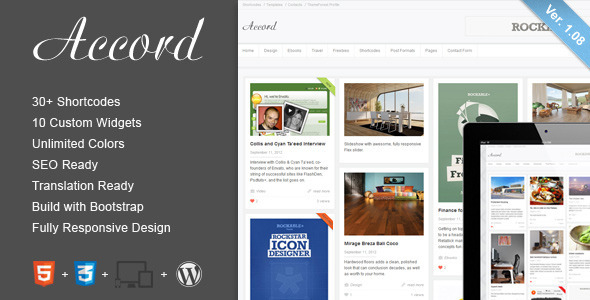 Accord - Responsive WordPress Blog Theme - Personal Blog / Magazine