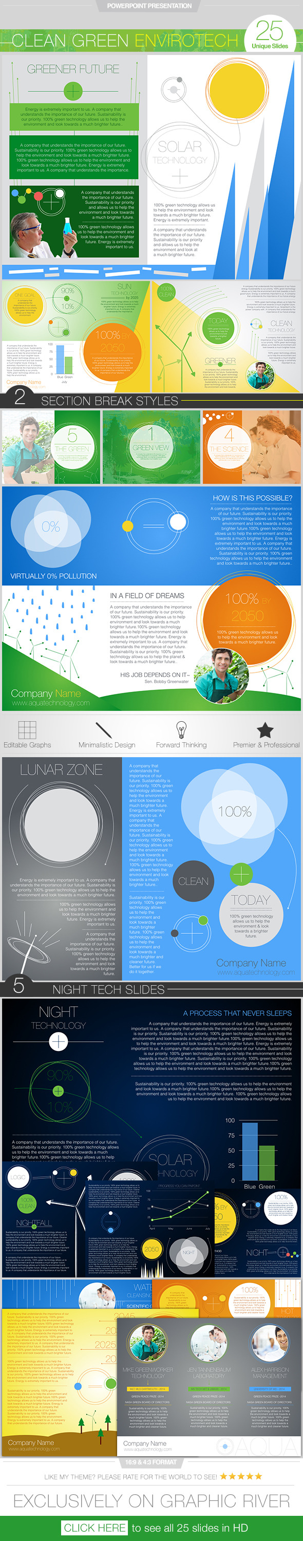 GraphicRiver Clean Green Envirotech PowerPoint Presentation 11281501