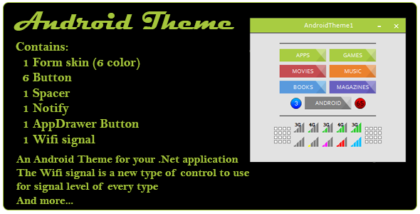 Android Theme and control for .Net - CodeCanyon Item for Sale