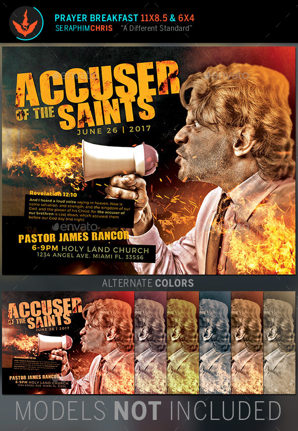GraphicRiver Accuser of the Saints Church Flyer Template 11281739