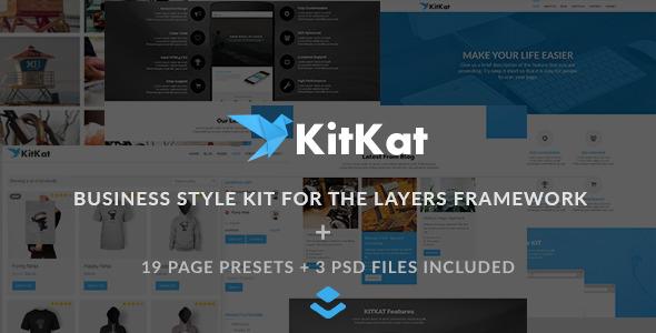 CodeCanyon KITKAT Business Layers WP Style Kit 11211283