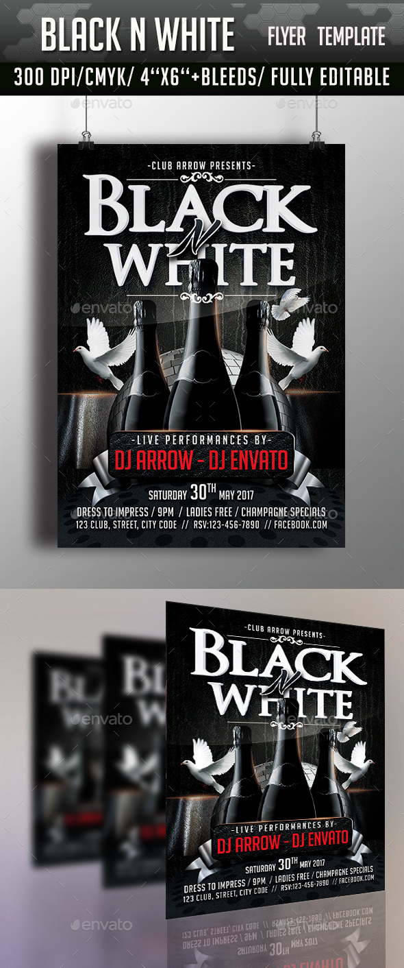 GraphicRiver Black n White Flyer Template 11281810