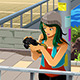 Girl Taking a Picture with her Camera - GraphicRiver Item for Sale