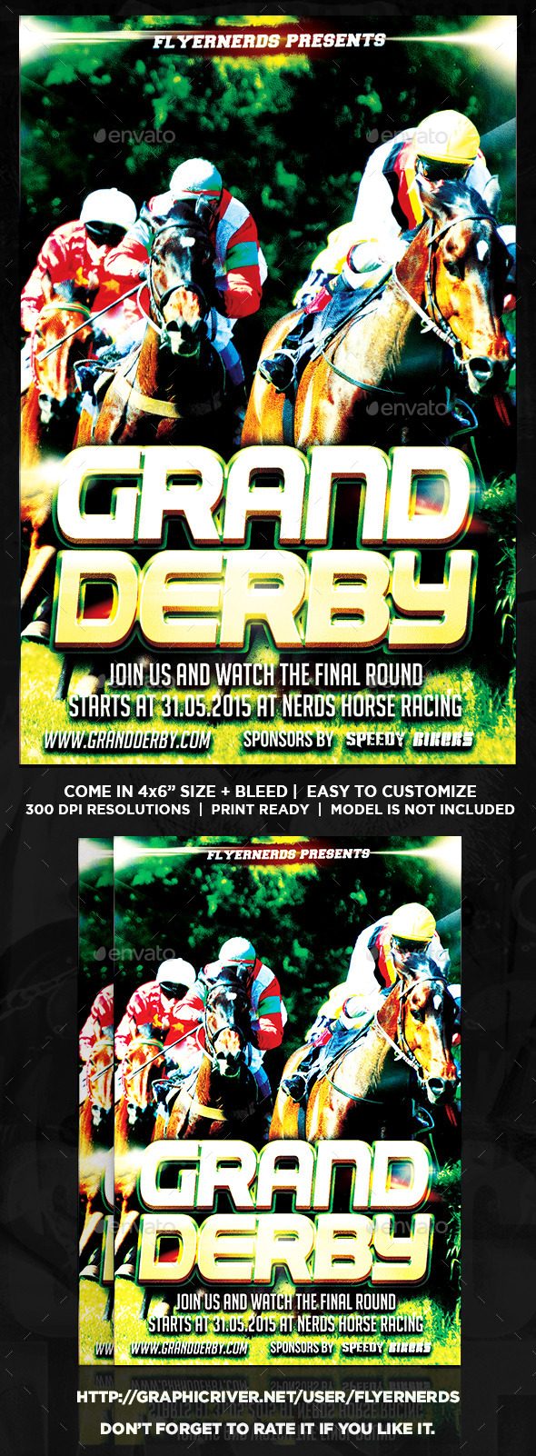 GraphicRiver Grand Derby Horse Racing Sports Flyer 11281889