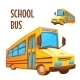 Vector Illustration Of School Bus On White - GraphicRiver Item for Sale