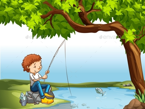 GraphicRiver Boy at the River 11281901