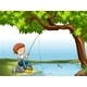 Boy at the River - GraphicRiver Item for Sale
