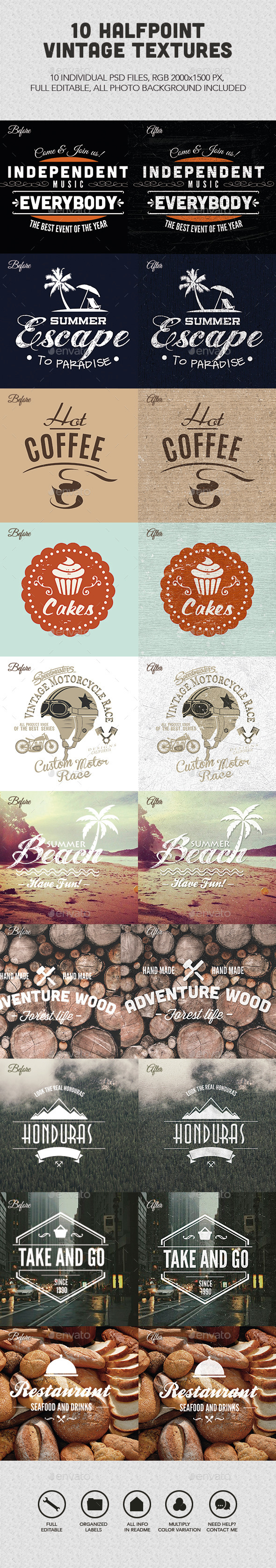GraphicRiver Vintage Textures Vol 01 11068588