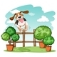 Dog Jumping Over the Fence - GraphicRiver Item for Sale