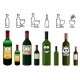 Cartoon Characters Of Wine Bottles In Various - GraphicRiver Item for Sale