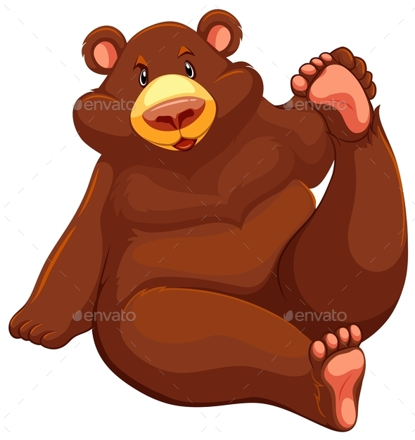 GraphicRiver Brown Bear Sitting Down 11282081