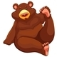 Brown Bear Sitting Down - GraphicRiver Item for Sale