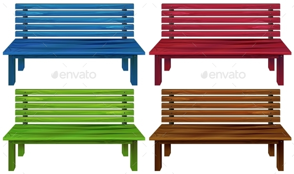 GraphicRiver Four Colourful Chairs 11282089