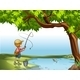 Boy Fishing at the River - GraphicRiver Item for Sale