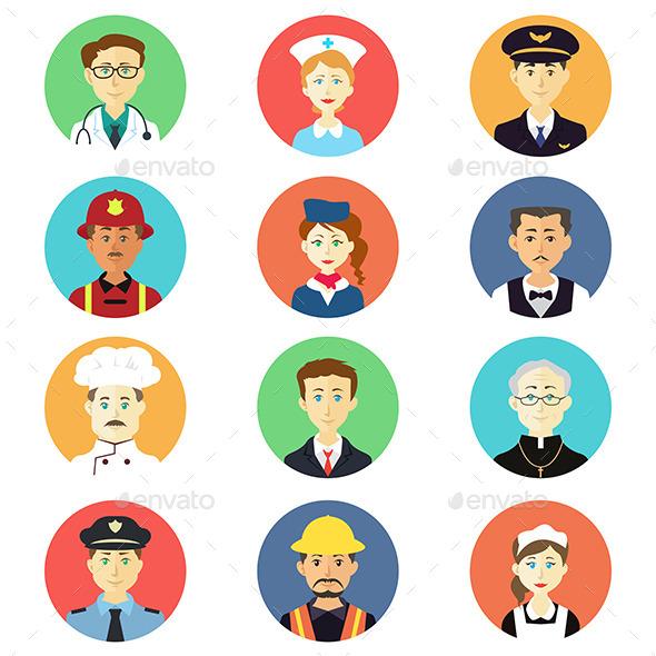 GraphicRiver Profession Icons 11282132