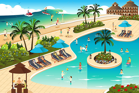 GraphicRiver Scene in a Tropical Resort 11282146