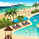 Scene in a Tropical Resort - GraphicRiver Item for Sale
