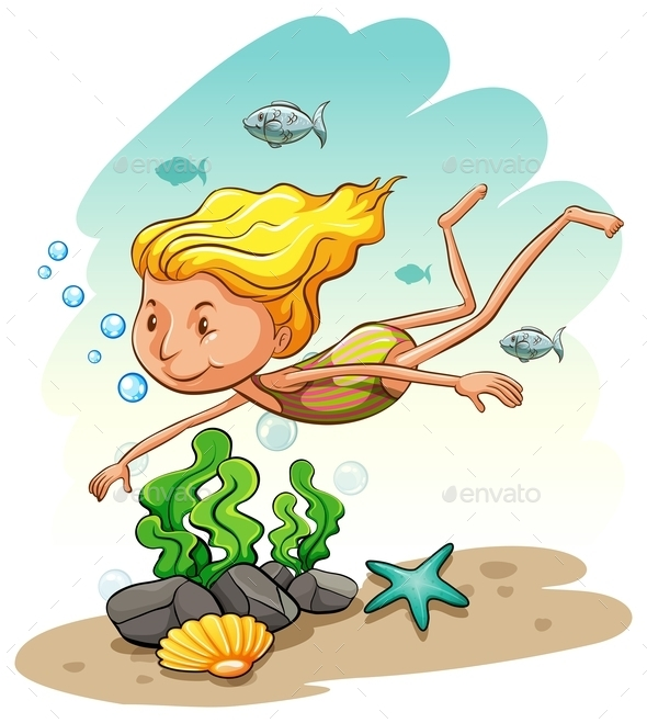 GraphicRiver Girl Enjoying Underwater 11282308