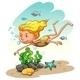 Girl Enjoying Underwater - GraphicRiver Item for Sale