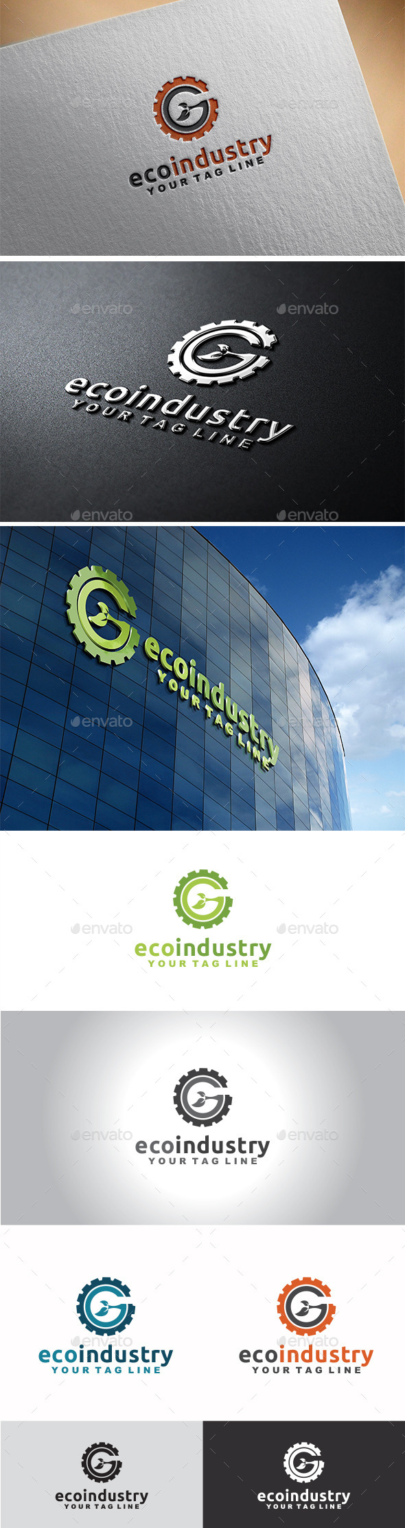 GraphicRiver Eco Industry Logo 11282311