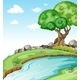 Flowing River with Trees - GraphicRiver Item for Sale