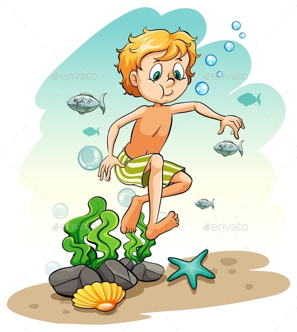 GraphicRiver Boy Under the Sea 11282480