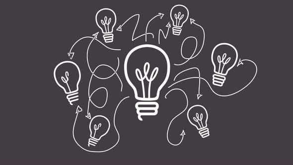 Light Bulb And Arrows Animation