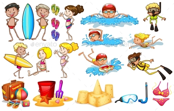 GraphicRiver Group of Kids Enjoying Summer 11282970