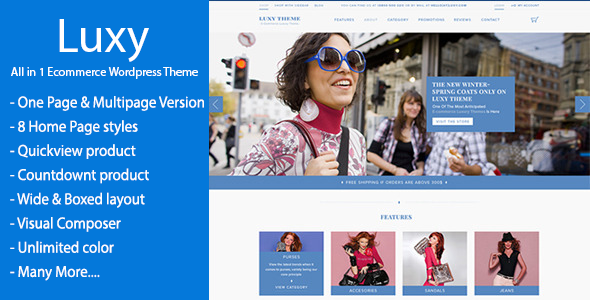 ThemeForest Luxy WooCommerce WordPress Theme 10805400