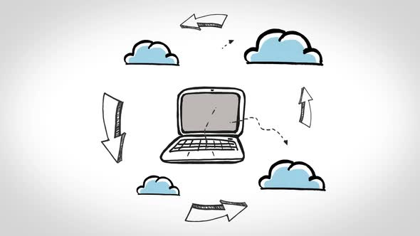 Animation Showing Cloud Computing