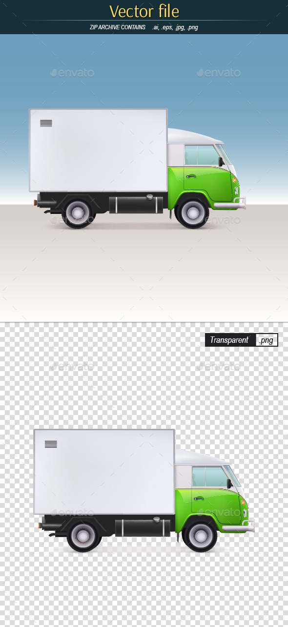 GraphicRiver Cargo Truck Delivery 11283569