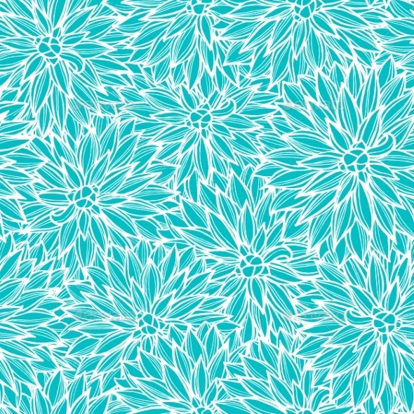 GraphicRiver Seamless Pattern With Flowers Dahlia 11283645