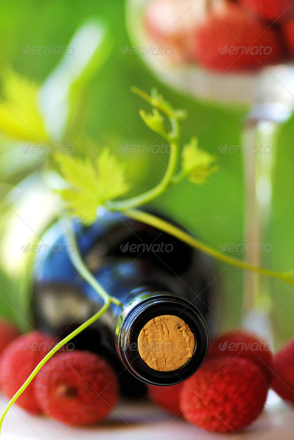 Red wine and red fruits - Stock Photo - Images