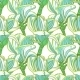 Seamless Floral Pattern With Magnolia Blossom.  - GraphicRiver Item for Sale