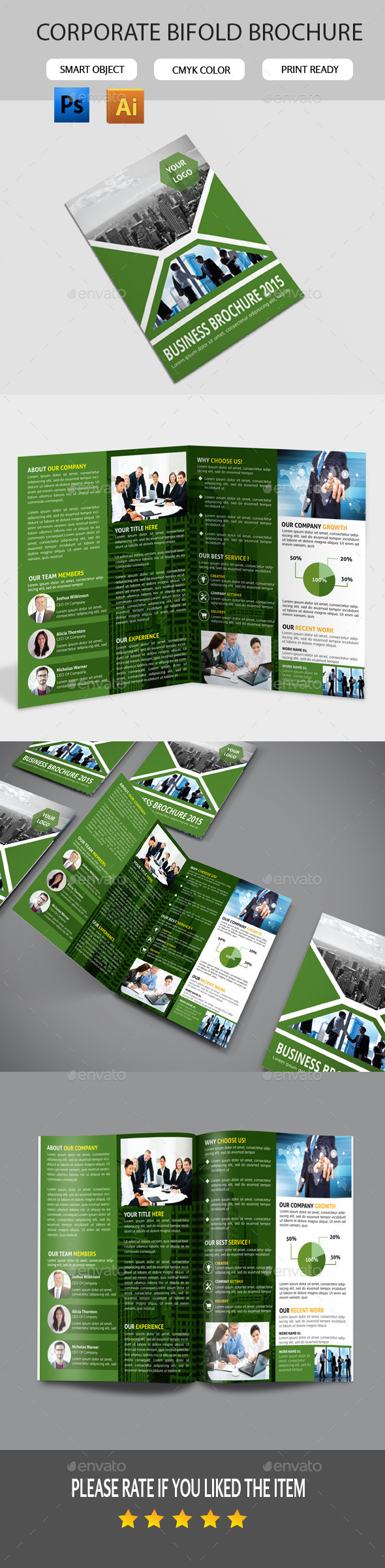 GraphicRiver Corporate Bifold Brochure 11284346