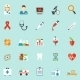 Medicine And Health Care Icons In Flat Style - GraphicRiver Item for Sale