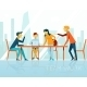 Business Meeting. People Talking And Working  - GraphicRiver Item for Sale