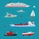 Sea Ships Flat Icons - GraphicRiver Item for Sale