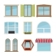 Vector Flat Window Set - GraphicRiver Item for Sale
