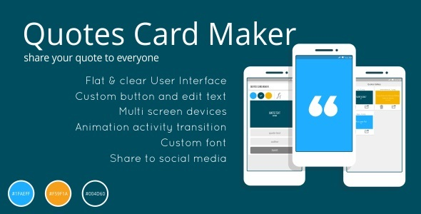 CodeCanyon Quotes Card Maker App 11231410