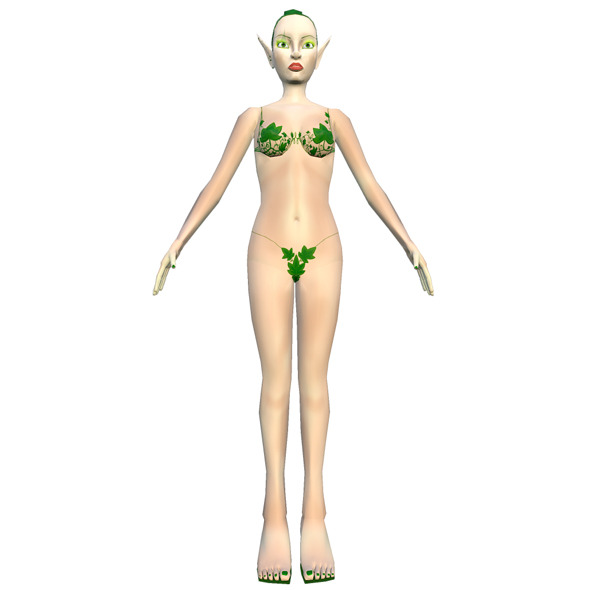 3DOcean Girl Elf Lowpoly 11170286