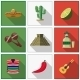 Mexico Icons Set, Mexican Symbols - GraphicRiver Item for Sale