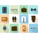 Businessman Clothes And Gadgets Icons In Flat - GraphicRiver Item for Sale