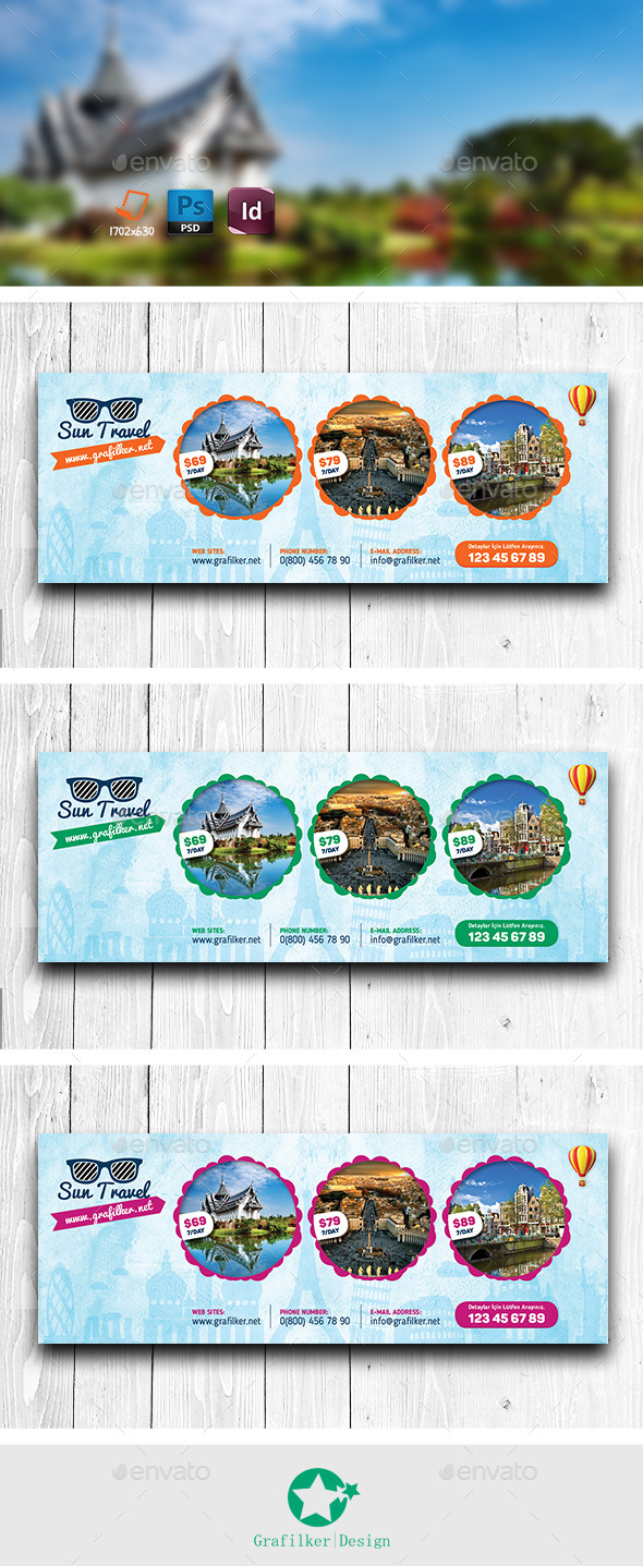 GraphicRiver Travel Tours Cover Templates 11284636