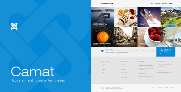ThemeForest Camat Government Joomla Templates 11284638