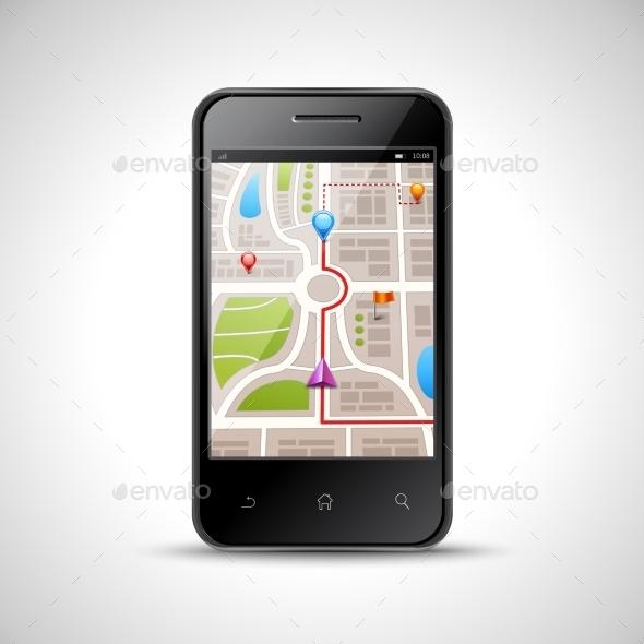 GraphicRiver Smartphone Navigation Illustration 11284718