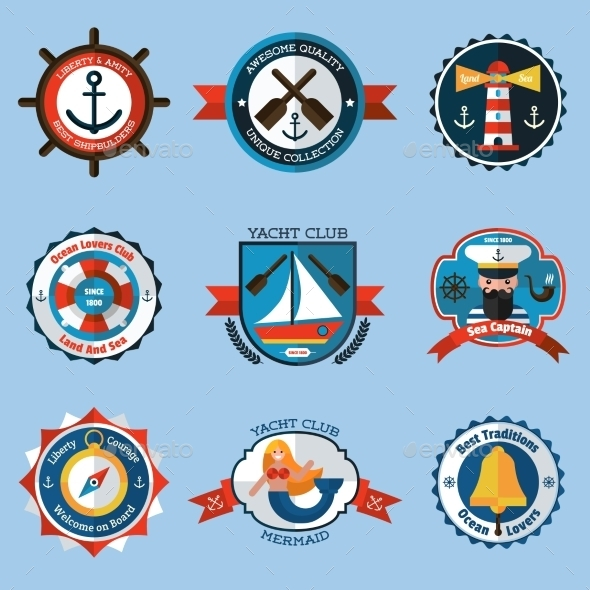 GraphicRiver Nautical Labels Set 11284720