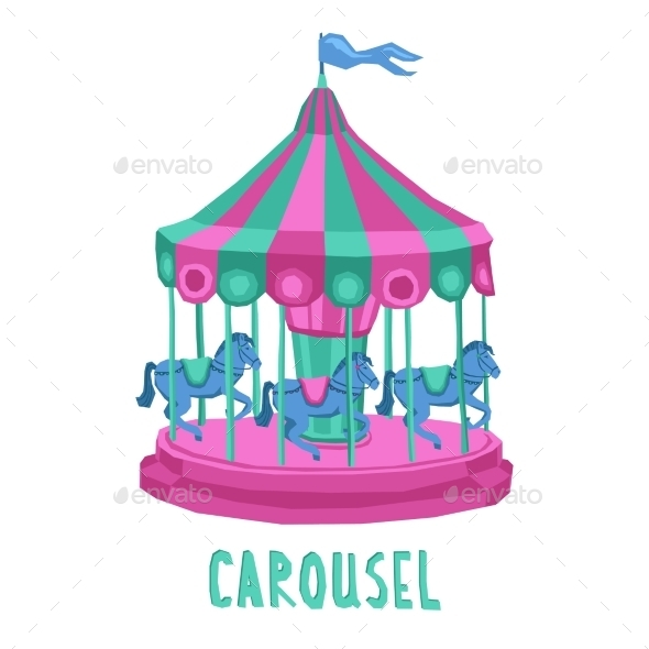 GraphicRiver Child Carousel Illustration 11284729
